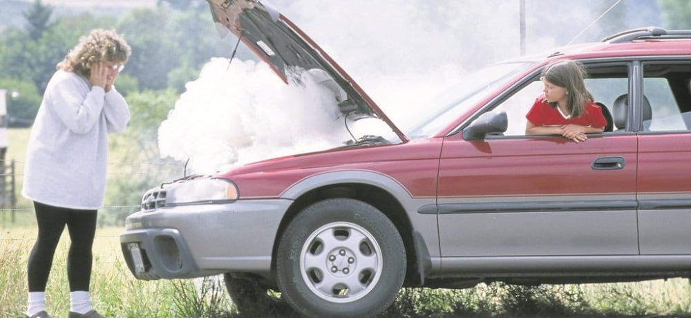 coche sobrecalentado